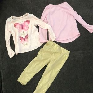 Bundle of 2T baby girl sparkley clothes